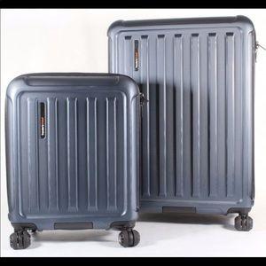 Travelers Choice 2 PC Hard Side Suitcase Luggage